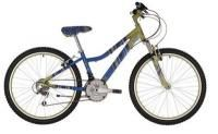 "Raleigh Chic 24"" Wheel Girls Bike Olive Green and Blue - 2014 This aluminium mountain bike is great for riding the weekend trails with the family, or getting you to the shops in style. Equipped with Shimano 18 speed Revoshift gears for easy gear changing, a front suspension fork to smooth out the bumps. http://www.bikes4families.co.uk/childrens-bikes/24-inch-wheel-kids-bikes/raleigh-chic-24-wheel-girls-bike-olive-green-and-blue-2014/prod_1507.html"