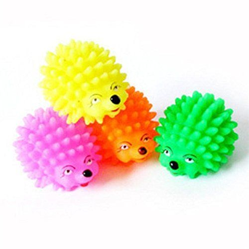 HuiSiFang Rubber Hedgehog Vocalism Ball Dog Puppy Squeaky Chew Toy Molar Bite *** Visit the image link more details.