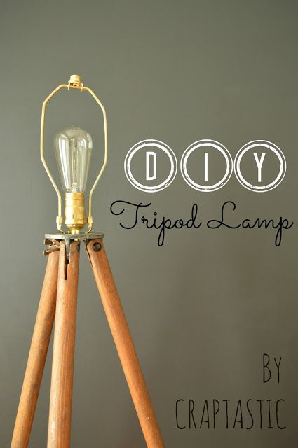 CRAPTASTIC: DIY Tripod Lamp and Dining Room Update need to find that metal piece!