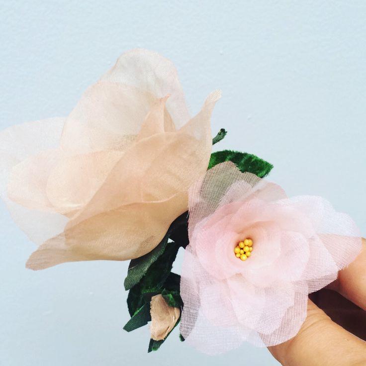 Silk and velvet roses.