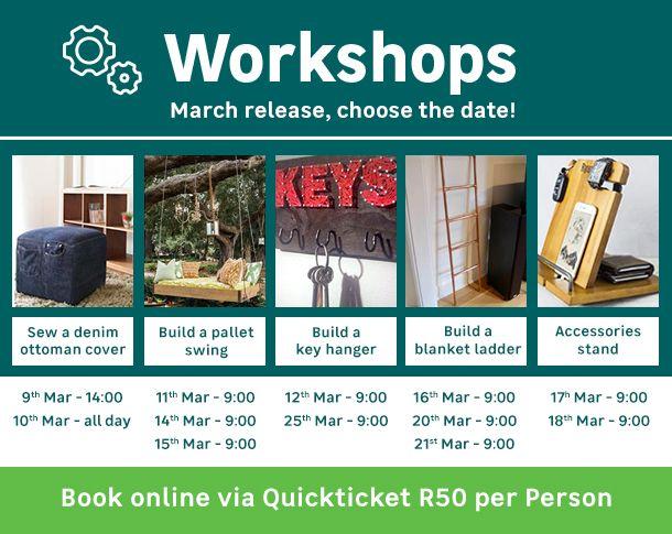Workshops And How To Leroy Merlin South Africa Pallet Building Tile Cladding Workshop