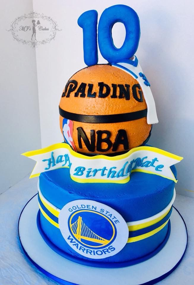 Golden State Warriors Themed Cake With Images Basketball