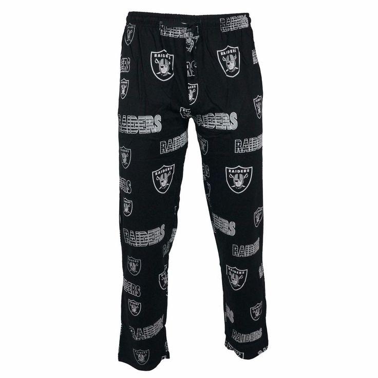 College Concepts Men's NFL Oakland Raiders Black Sweep Pajama Bottoms Pants #CollegeConcepts #LoungePants #OaklandRaiders