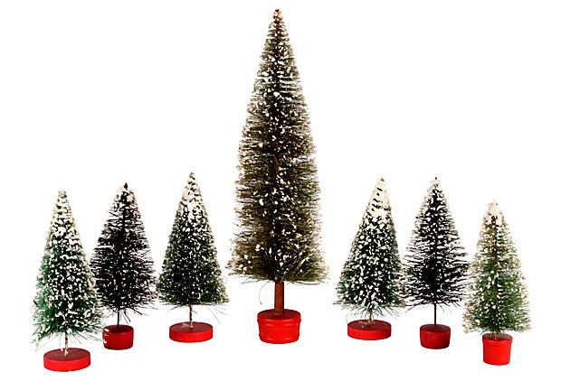 Midcentury Christmas Trees, S/7 on OneKingsLane.com