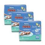 Leve com Economia 8% desc. 3 Pacotes de Fraldas Turma da Monica Soft Touch 18 un. RN - Huggies
