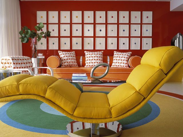 The Analogous Color Scheme To This Room Is Red Orange And Yellow