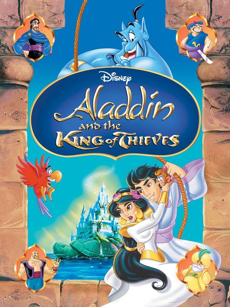 Aladdin and the King of Thieves, starringGilbert Gottfried, Jerry Orbach, Scott Weinger, Linda Larkin, John Rhys-Davies    http://family-friendly-movies.com/animated/aladdin-king-thieves/
