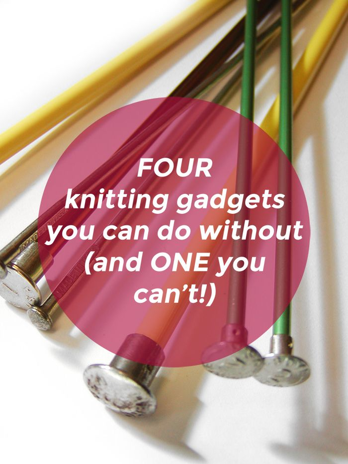 Knitting on the Cheap - how to make do without knitting gadgets when you don't have the money to spend on them