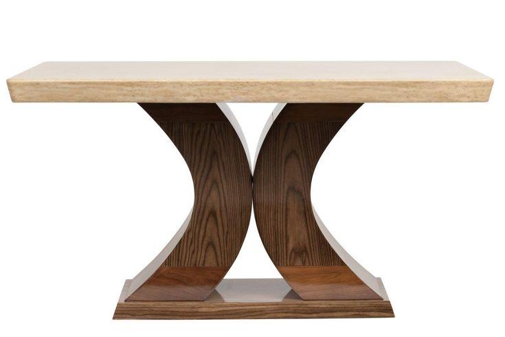 Этот обеденный стол представляет собой результат творческой дизайнерской мысли и воплощает современные тенденции. Сейчас в моде достаточно грубый стиль, мебель, которая выглядит, как будто она сделана мастерами в ручную. Этот стол выглядит основательно. Его столешница сделана из натурального мрамора, а фигурные ножки в форме полукругов – из мдф и буковой фанеры.             Материал: Дерево, МДФ, Камень.              Бренд: DG Home.              Стили: Арт-деко.              Цвета: Бежевый…