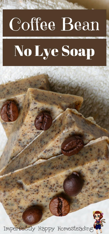 DIY Coffee Bean, No Lye Soap. Easy to make!
