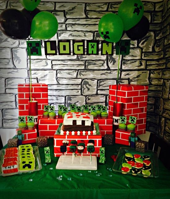 107 best images about minecraft party on pinterest for Food bar 527
