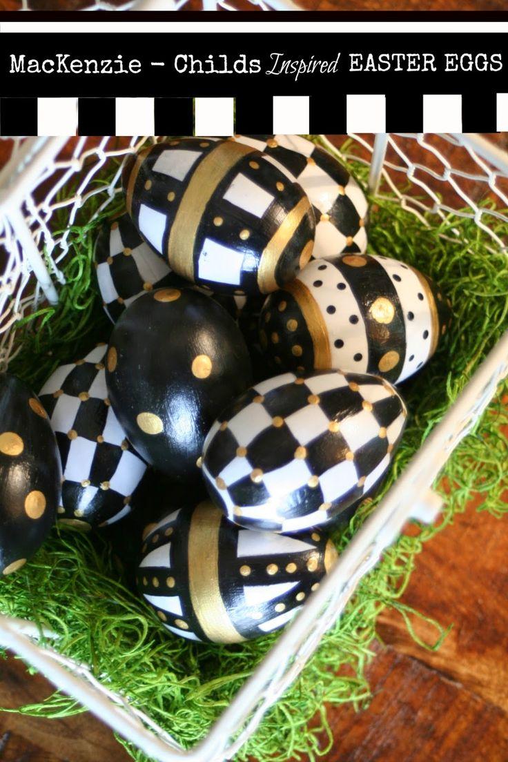 MarvinsDaughters: MacKenzie   Childs Inspired Easter Eggs