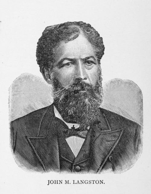 John Mercer Langston was an Oberlin graduated who became a lawyer who defended Edmonia Lewis in court. In 1890, he became a U.S. congressman from Virginia.