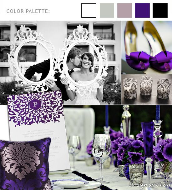 elegant purple tabletop