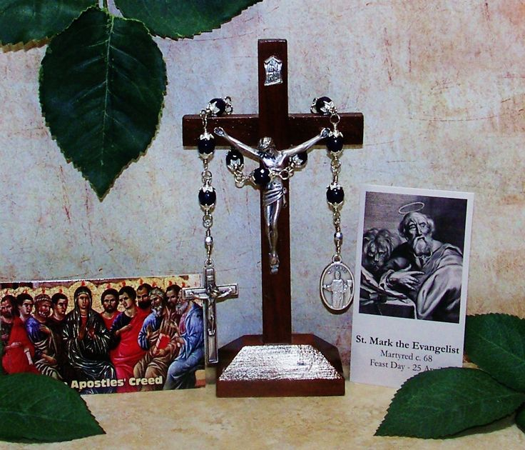 Unbreakable Catholic Chaplet of St. Mark the Evangelist - Patron Saint of Attorneys, Notaries, Prisoners and Stained Glass Workers by foodforthesoul on Etsy