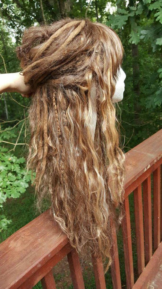 Custom Wool Dreadlock Synthetic Wig Custom by SisterSarahsShop