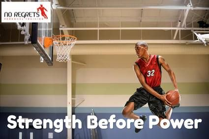 """As some of you may know I am a keen basketball player and one of the things I am often asked is """"what exercises can I do to make me jump higher?"""" or """"what can I do to make me faster and more explosive?"""" There is many things that must be addressed before jumping straight into the highly explosive exercises like plyometrics or weighted barbell jumping. And one of the most important things to do before working on power exercises is to ensure you have adequate strength."""