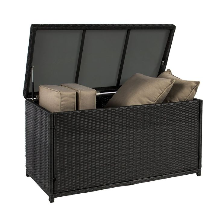 Best Choice Products is proud to present this beautiful new wicker deck storage box. This sun-resistant storage box provides plenty of space to store any garden