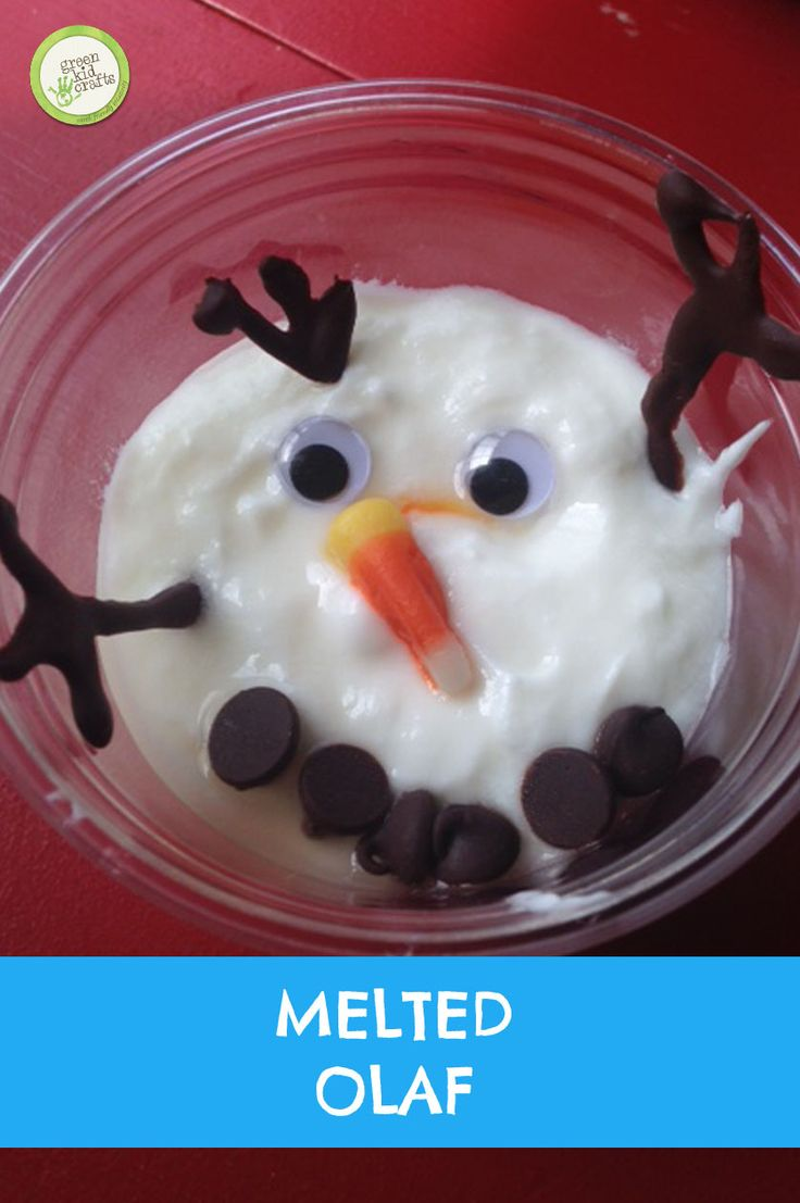 These healthy Melting Olaf cups are sure to be big hit at any celebration and are really easy to make! http://www.greenkidcrafts.com/melting-olaf/