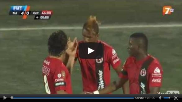 Vídeo del resumen y goles entre los Xolos de Tijuana vs Chivas partido que corresponde a la jornada 17 de la Liga MX Clausura 2013. Marcador Final: Tijuana 4-0 Chivas.  http://envivoporinternet.net/resumen-y-goles-tijuana-vs-chivas-4-0-clausura-2013/: 4 0 Chiva