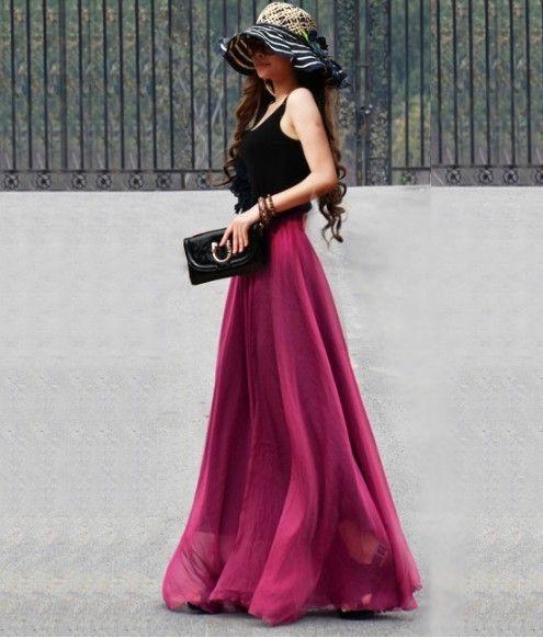 I love long skirts. Decisamente alla moda, le gonne lunghe sono un must da tenere sempre a portata di mano nel guardaroba.. http://blog.anitalianbrand.com/2014/04/i-love-long-skirts/