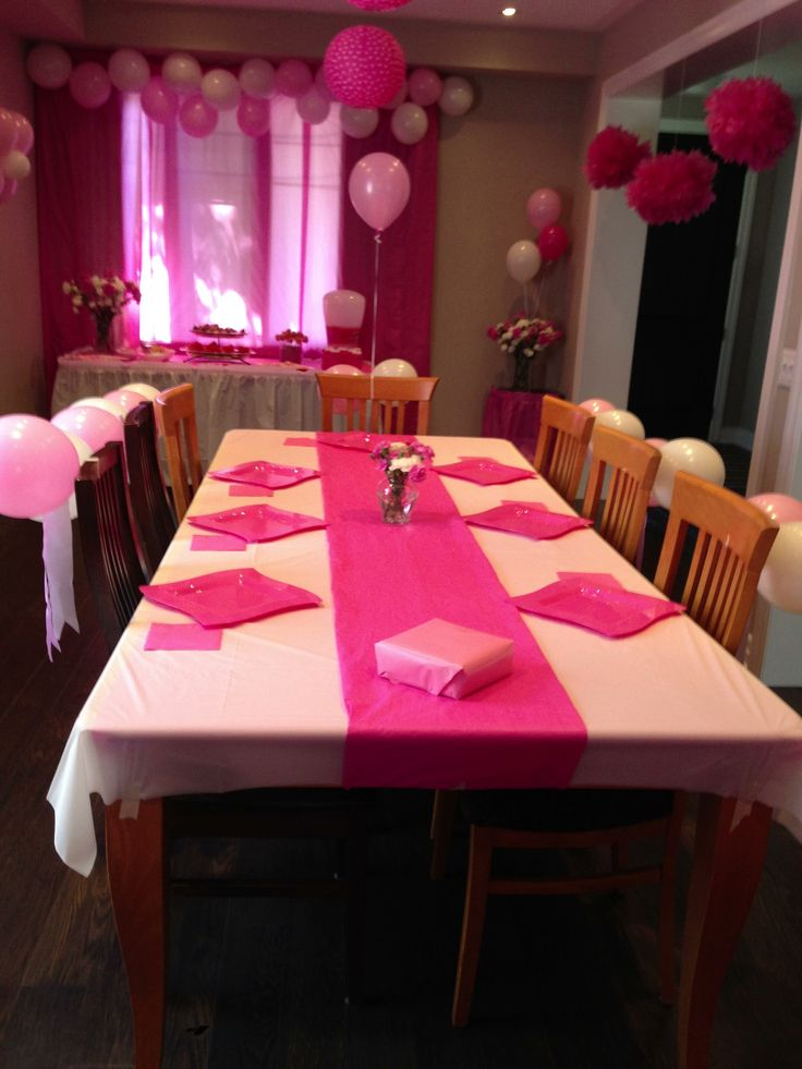 Table for pink party