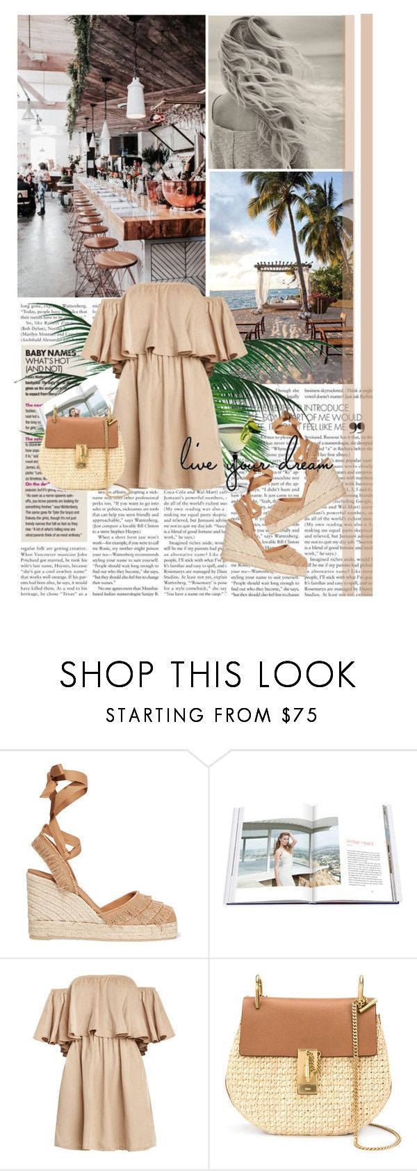 """""""Last days of summer"""" by gabriellabejenaru ❤ liked on Polyvore featuring Castañer, Assouline Publishing and Chloé"""