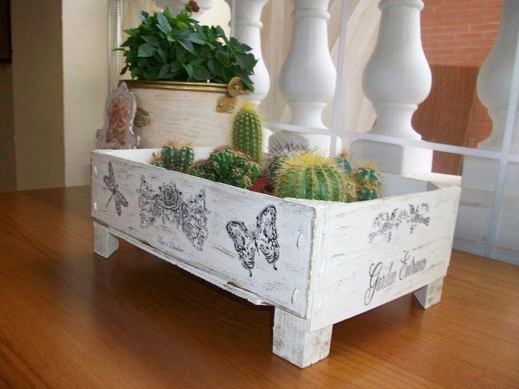 M s de 1000 ideas sobre estanterias recicladas en - Cajas para cocina ...