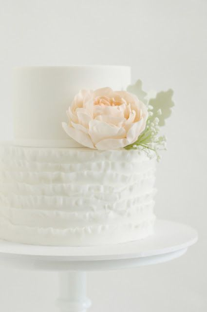 The cake will have a large fuchsia peony with a bit of cascading pepperberry and jasmine vine on the 2nd tier