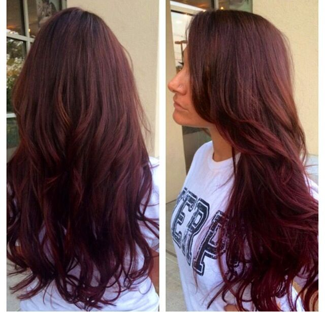 warm brown with ombr233 with red violet beauty pinterest
