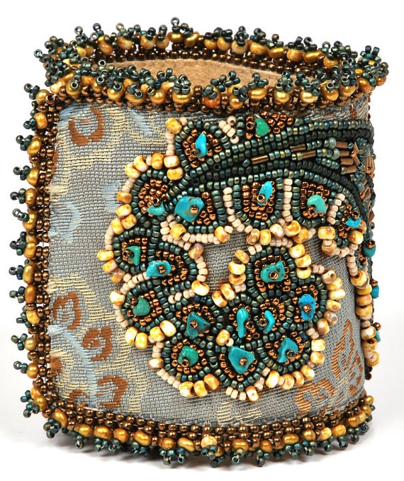 Embroidered Beads: Embroidery Cuffs & Bracelets Images On