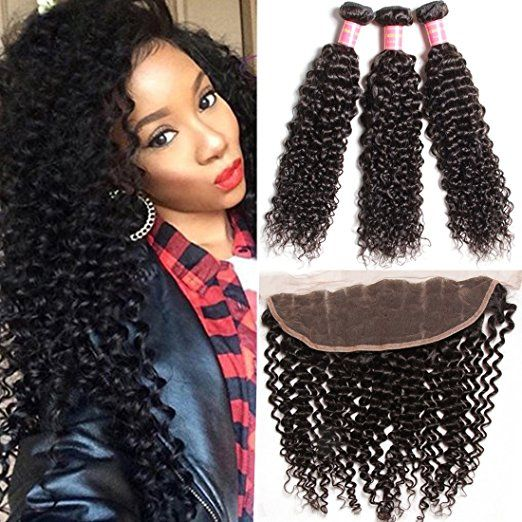 21 best curly weaves kinky human hair soft afro hair extensions brazilian curly hair lacefrontalclosure with bundles 100 real virgin human pmusecretfo Images