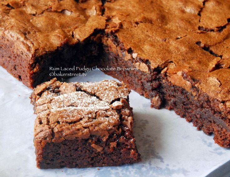 Rum Laced Fudgy Chocolate Brownies from @Anuradha | Baker Street