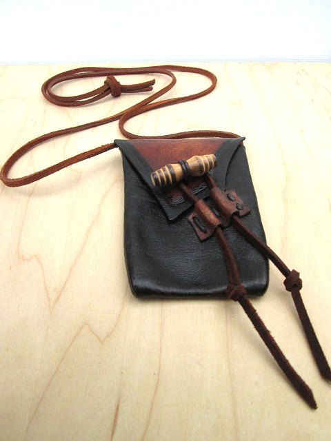 Hand Made Earthtoned Leather Medicine Bag Natural by visionroot, $62.00