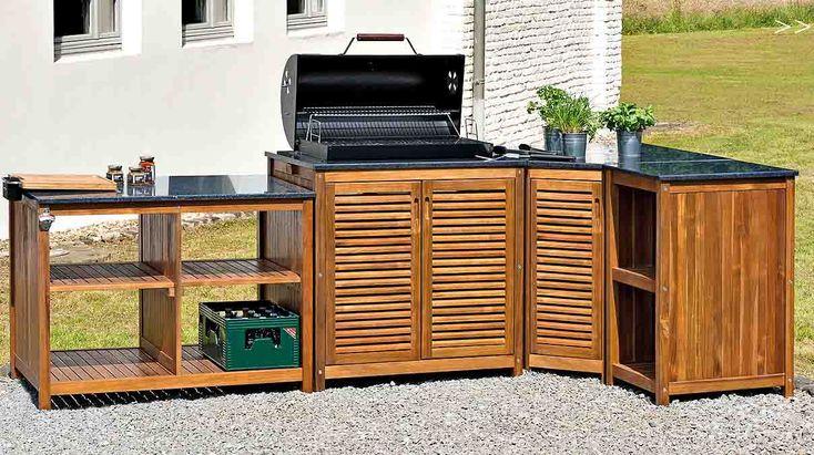 BUITENKEUKENS HARDHOUT MET BBG_GRIL Belardo Landmann, inclusief passende kasten om een compleet tuinkeuken-set maken, Tuin- opbergboxen kussens - Berlano.nl Interieur & Tuinmeubilair