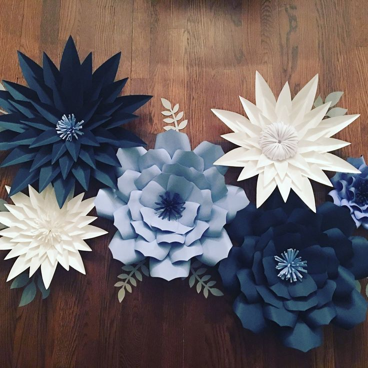 Large blue flowers for nursery, baby shower, home decor, or bridal shower!!