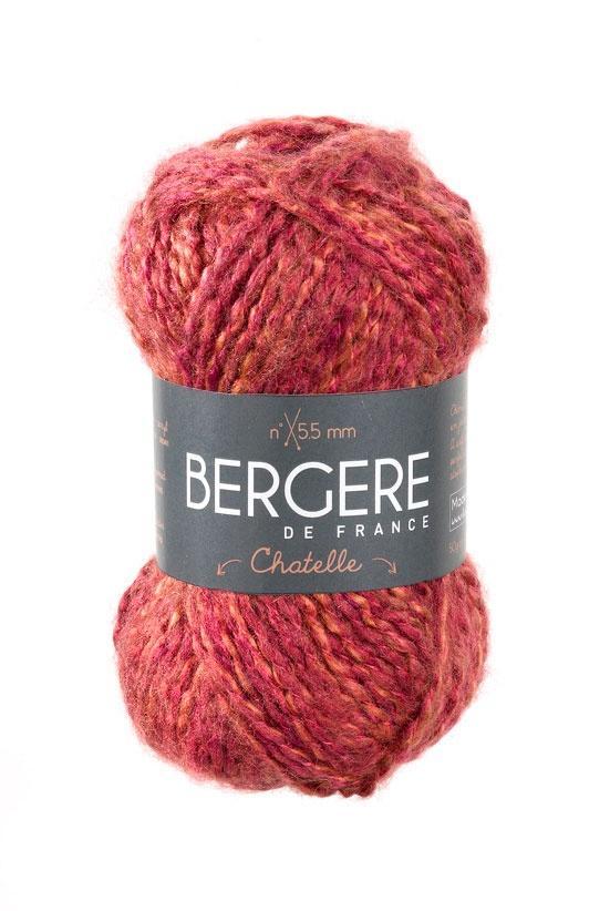 CHATELLE   Needles - Aiguilles 5.5  Crochet hook - Crochet 5.5  89% Acrylique - Acrylic  8% Polyamide  3% Polyester