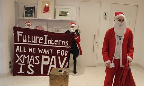 Intern protest: 'All I want for Christmas is pay'