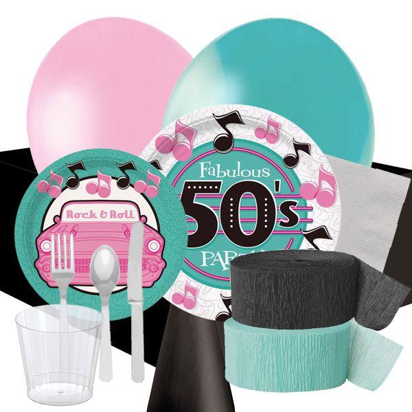 Pin by fiestafacil on fiesta a os 50 50s party pinterest - Decoracion anos 50 ...
