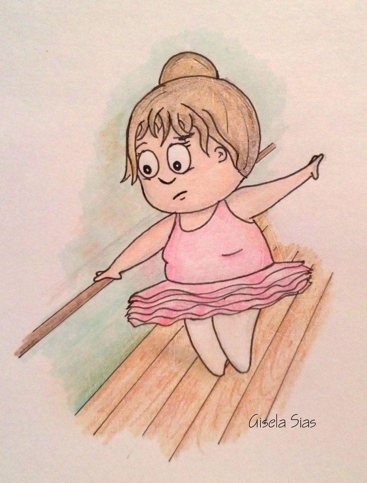 Bailarina tierna  #dibujo #draw #sketch #ilustración #cute