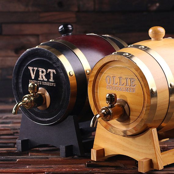 1.5 L Personalized Whiskey Barrel Unique Groomsmen by TealsPrairie