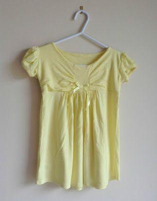 DIY: remodel a top into a cute baby dress !