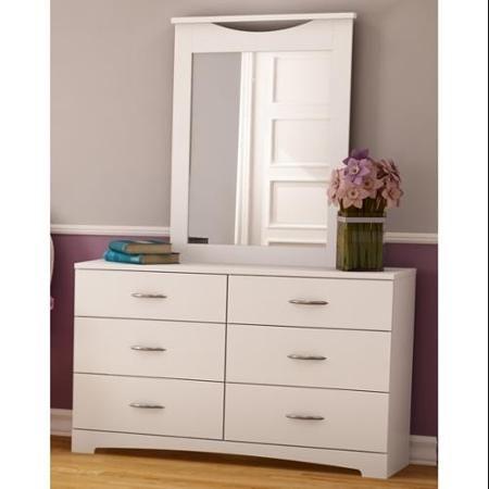 step one dresser u0026 mirror set in pure white