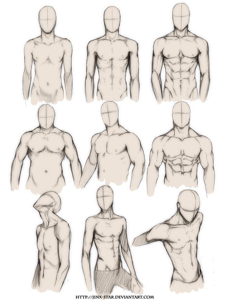 +BODY TYPE STUDY+ by jinx-star.deviantart.com on @deviantART