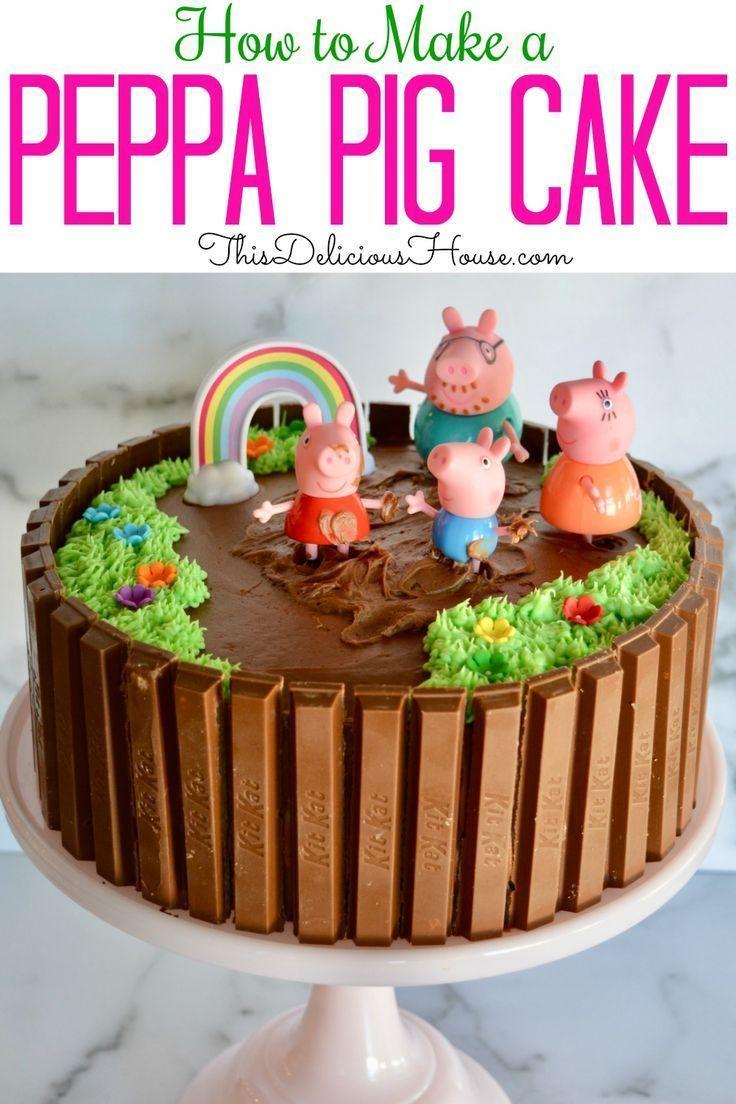 Peppa Pig Birthday Cake Einhorn Geburtstagsfeier Geburtstag Geburtstagstor Peppa Pig Birthday Cak In 2020 Pig Birthday Cakes Peppa Pig Birthday Cake Cake Kit