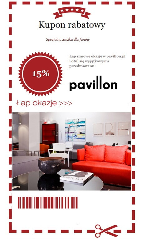facebook - aplikacja rabatowa dla pavillon.pl.  Facebook app