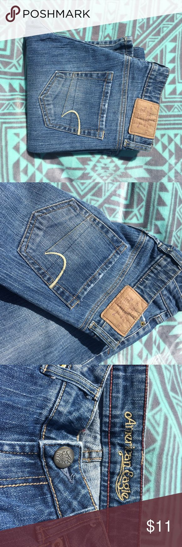 Size 2 Regular American Eagle Hipster Jeans FLASH SALE MARK DOWN   Brand: American Eagle outfitters   Size: 2 Regular   Details: these are their older style jeans. Hipster style. These are like new never worn just folded and stored. Medium wash.   Condition: like new NWOT   Extra info: older style. Washed never worn American Eagle Outfitters Jeans Boot Cut