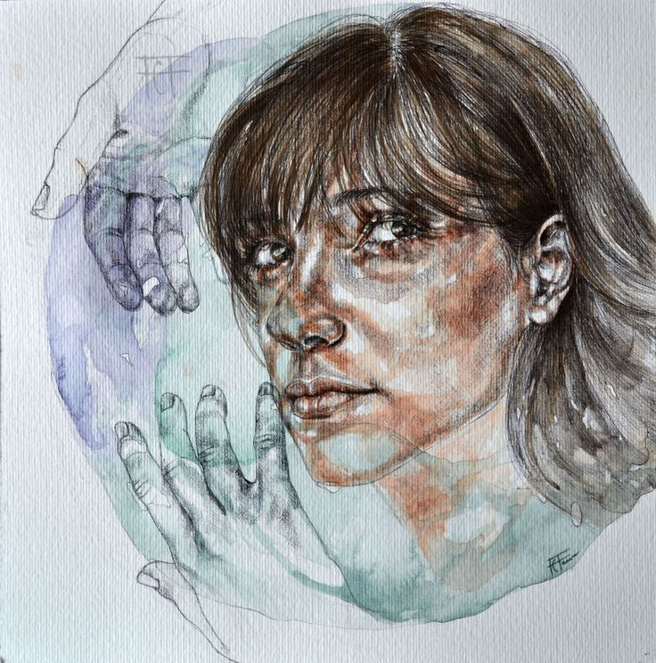 Eterno ritorno,   mixed media on paper. watercolor, pen, charcoal.    flaviafanara.tumblr.com #flaviafanaraart