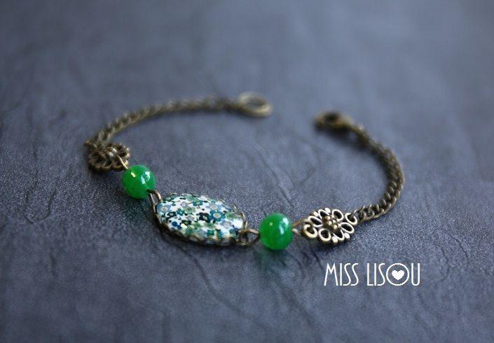 Armbänder - Vintage Armband grün - ein Designerstück von miss-lisou bei DaWanda