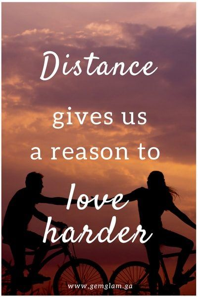 Distance doesn't change true feelings. It's the lack of communication that does and mixed signals I guess from both of us
